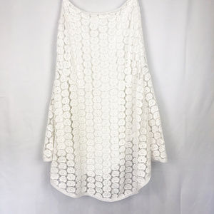 [White House Black Market] High Low Lace Skirt